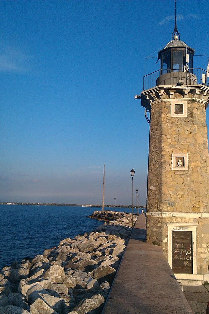 1890ger, 19. Jahrhundert, Desenzano, Desenzano del Garde, Gardasee, Hafen, Hafenmole, Leuchtturm
