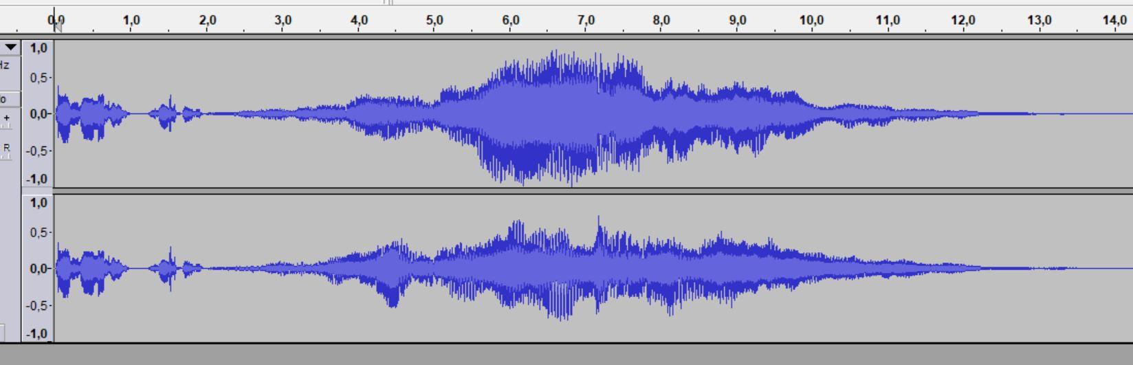 Eine Tonspur in Balu in einem Schnittprogramm