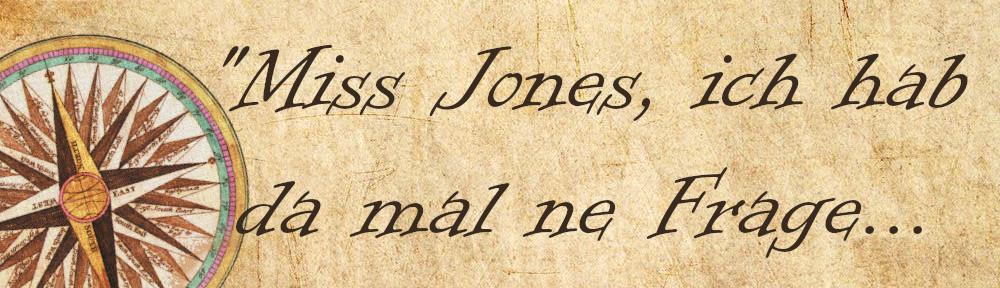"""Prgament mit der Aufschrift """"Miss Jones, ich hab da mal ne Frage..."""""""