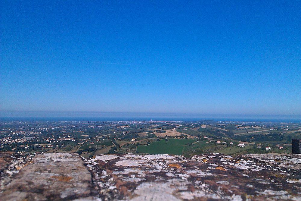 Blick bis Rimini