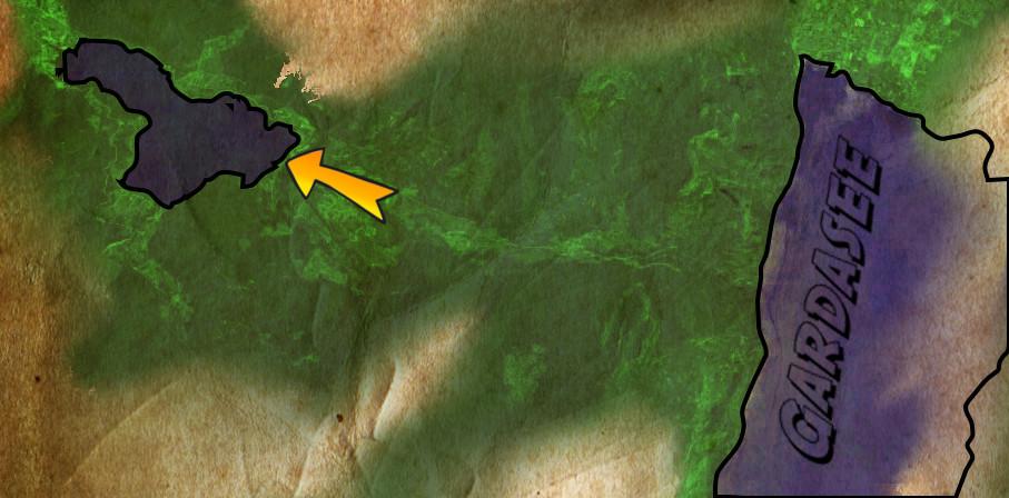Grobe Karte. Wo liegt die Siedlung!?