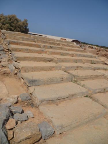 Haupttreppe. Über diese zweite besonders breite Haupttreppe konnte man in den ersten Stock des Palastes gelangen.