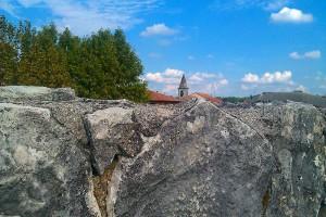 Ausblick über den Stadtwall ins innere der Festung
