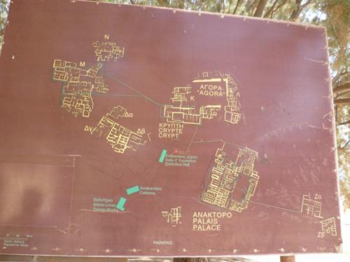 Der Plan von Malia zeigt, das es sich wirklich um ein scheinbares Labyrinth handelt.